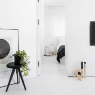 Yael Perry washes skinny Tel Aviv apartment in an all-white colour palette