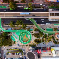 "Dissing + Weitling completes ""world's longest"" elevated cycling path in China"