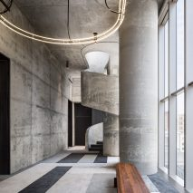 Interior of amenities of 56 Leonard by Herzog & de Meuron