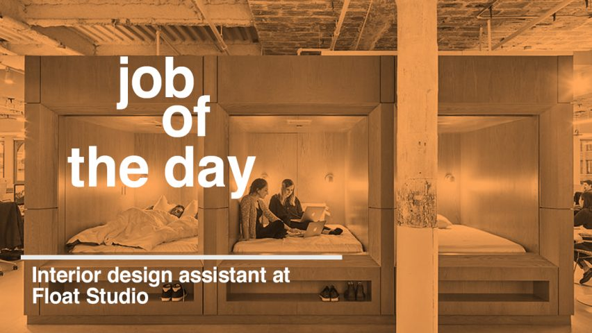 job of the day interior design assistant at float studio in new york