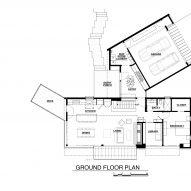 Plan of Alpine Meadows Cabin by Studio Bergtraun