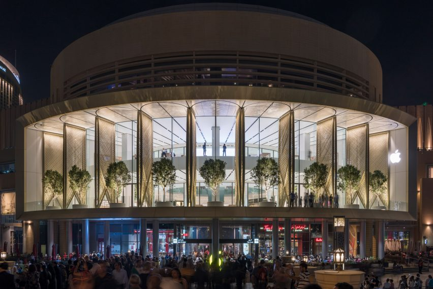 Dubai Mall de Apple por Foster + Partners