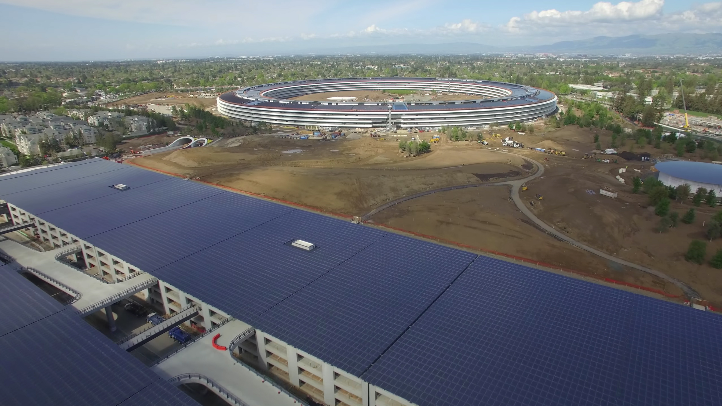 Drone footage captures Apple Park as it prepares to welcome employees