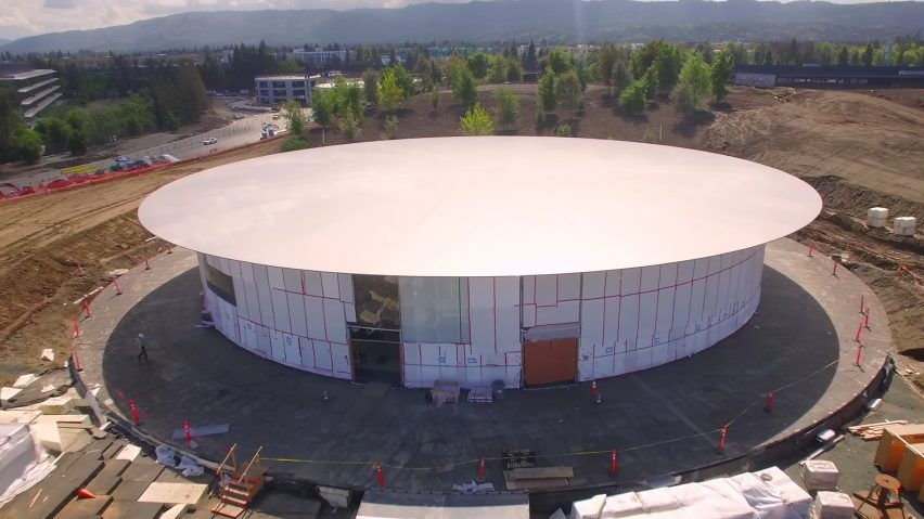 Apple Park drone footage by Matthew Roberts
