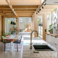 Nimtim adds pergola-like extension to 1950s terrace in south London