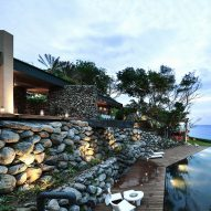 Stone-walled house in Taiwan provides residents with Pacific Ocean views