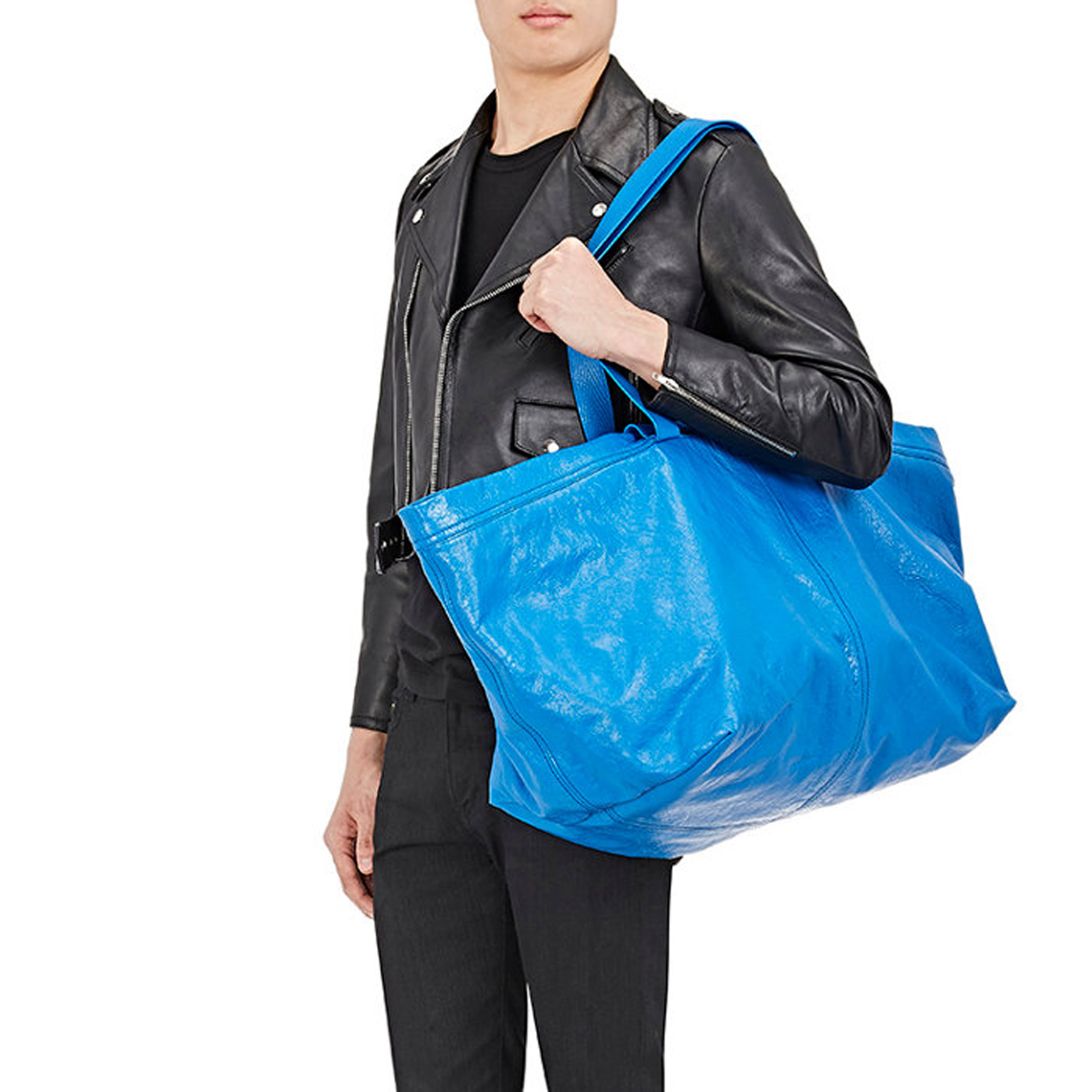 a2400106c66 Balenciaga sells £1,705 version of IKEA's blue tote bag worth 40p