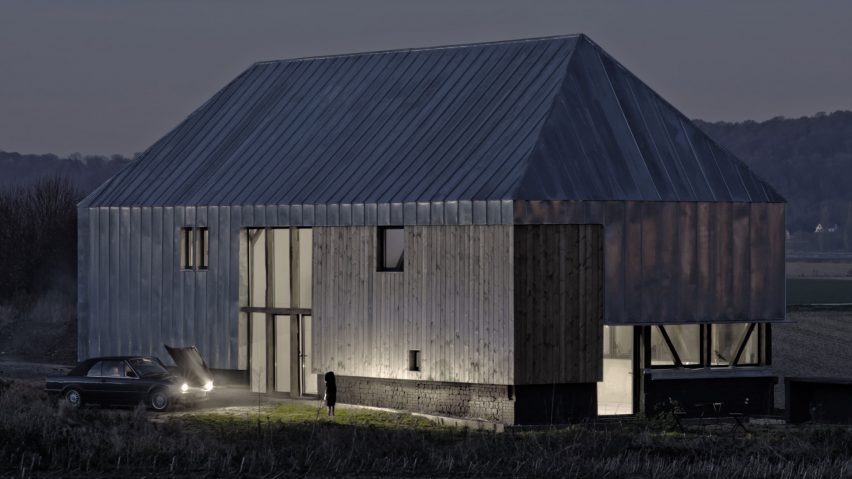 Antonin Ziegler Covers Abandoned Barn In Zinc Plates To