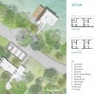 Site plan for Blue Lake Retreat by Lake Flato