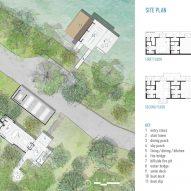 Site plan for Blue Lake Retreat by Lake Flato