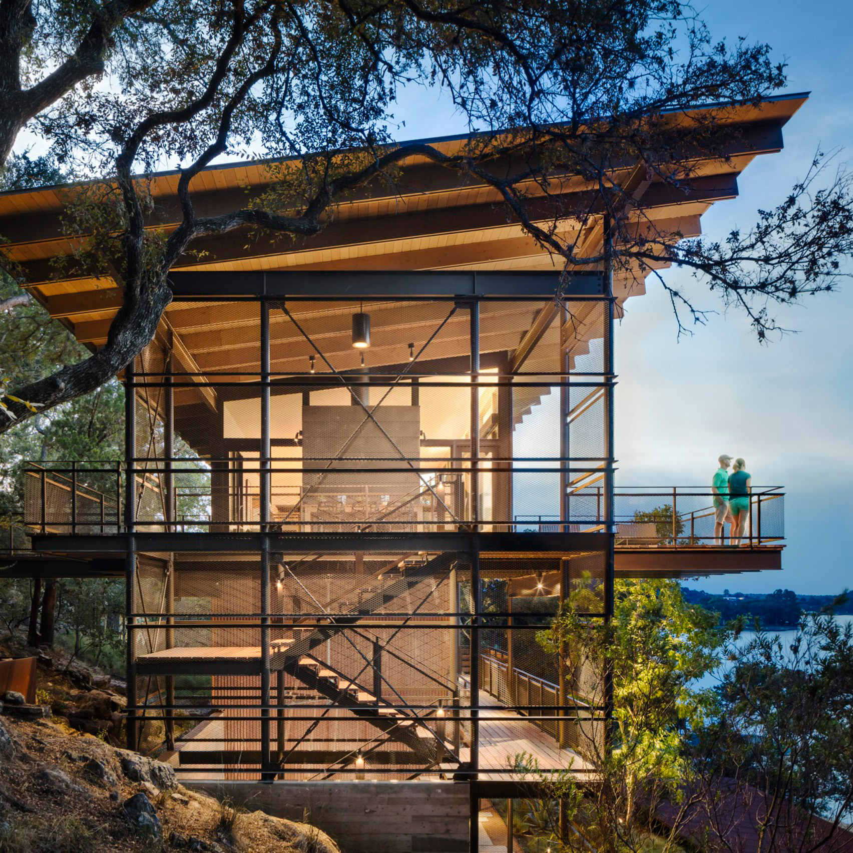 Two Hillside Cabins In The Trees By Feldman Architecture: #3Novices: 10 US Holiday Homes That Celebrate The American