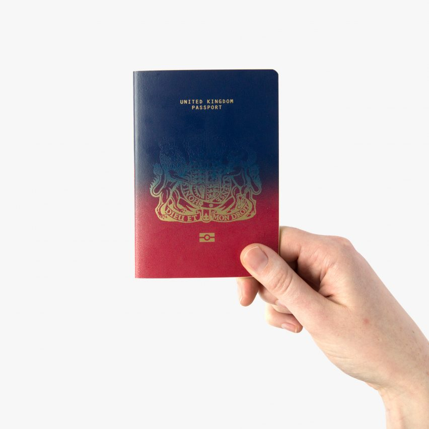 Ian Macfarlane's winning Brexit passport design