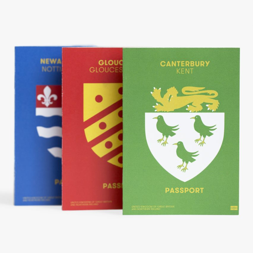 Passport design by Tim Gambell and Alfons Hooikaas
