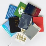 Arper showroom hosts exhibition of Brexit passport designs during Clerkenwell Design Week