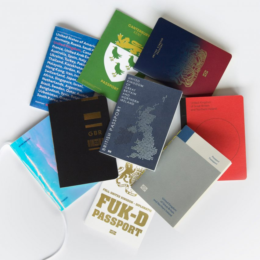 Dezeen's Brexit passport competition shortlisted designs