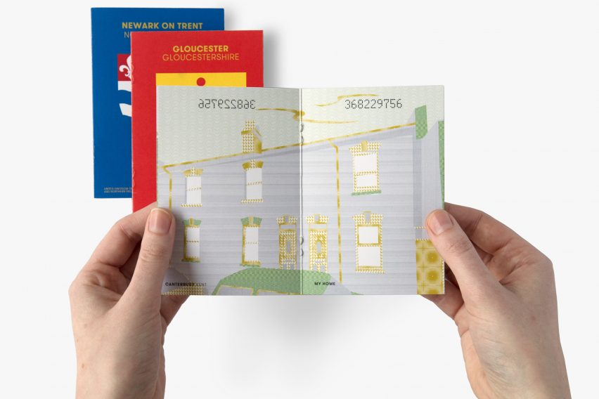Tim Gambell and Alfons Hooikaas third-place Brexit passport design