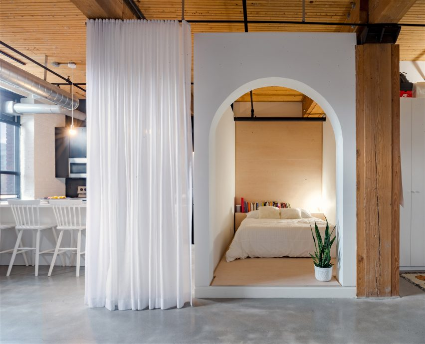 loft furniture toronto. A Rounded Archway Provides The Entrance To Sleeping Nook, Where Bed Rests On Slightly Elevated Platform. Pronounced Entry And Offset Height Loft Furniture Toronto