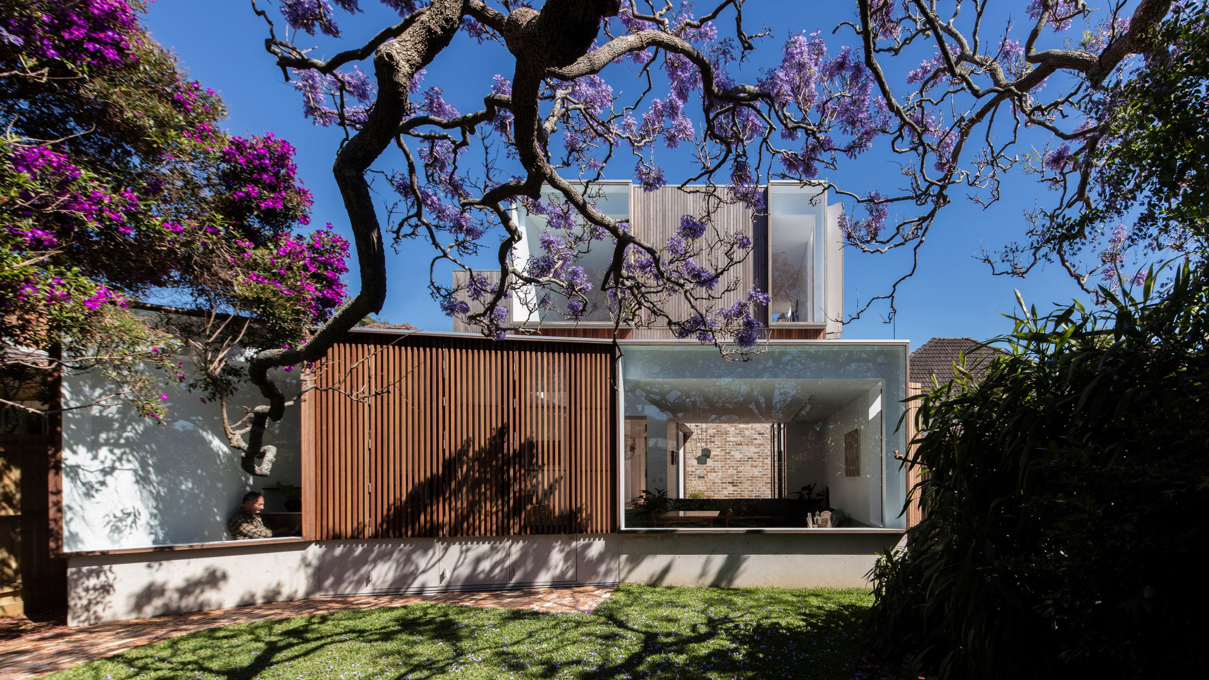 Stacked Windows Face A 116 Year Old Tree In Panovscotts Sydney Cottage Extension