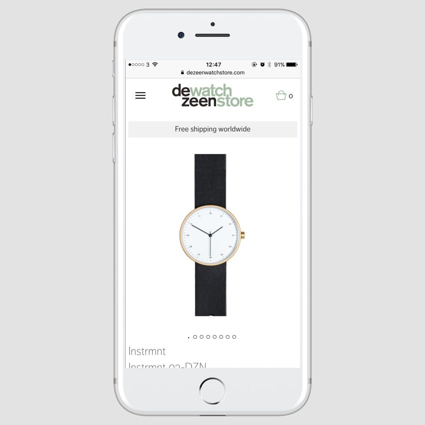 Dezeen Watch Store now accepts Apple Pay