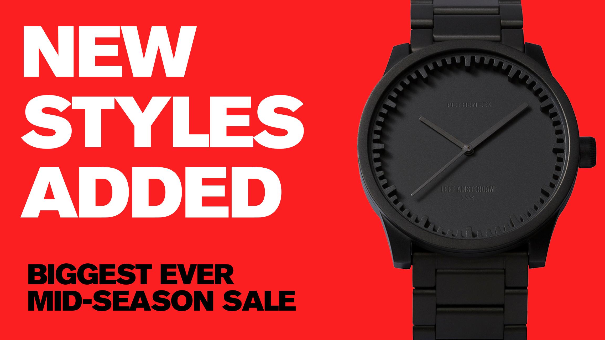 Watches designed by Nendo and Piet Hein Eek added to Dezeen Watch Store sale