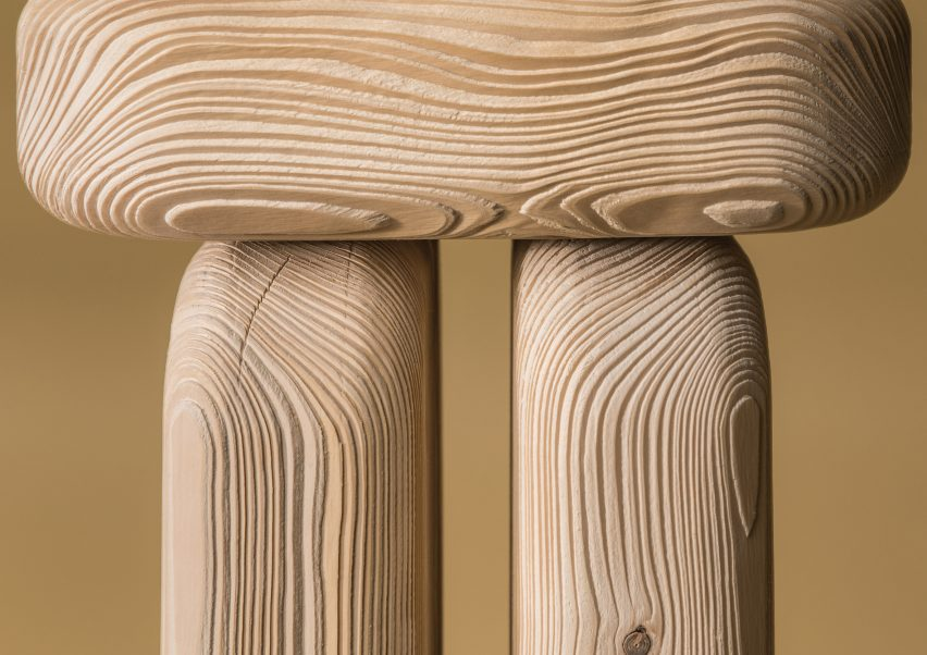 Dune Furniture Collection by Lisa Ertel   written. Lisa Ertel sandblasts Dune furniture to highlight underlying