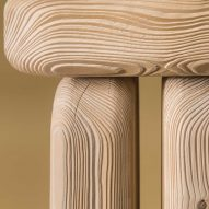 Lisa Ertel sandblasts Dune furniture to highlight underlying patterns of wood growth