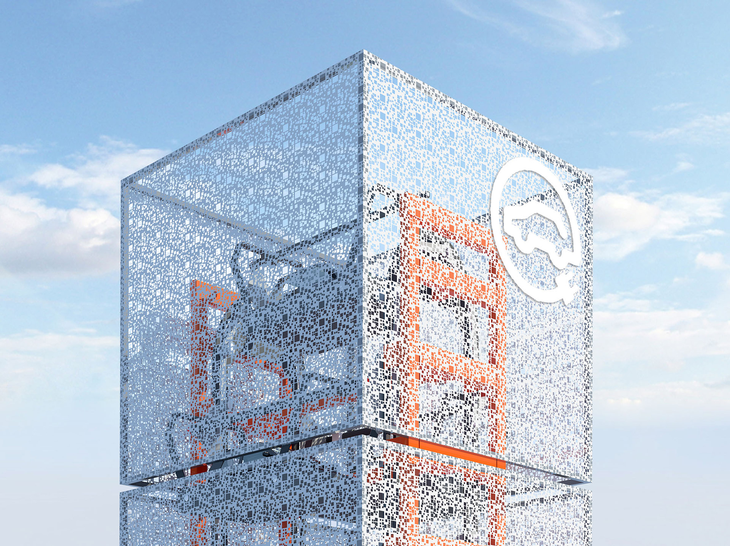 "Ennead Lab proposes electric car charging tower as ""the future of roadside architecture"""