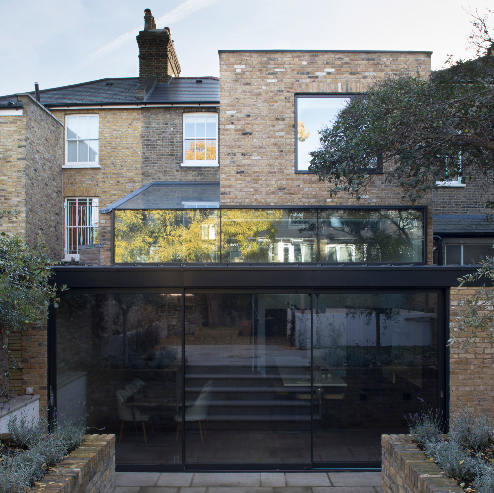 london houses dezeen giles pike architects adds stepped glass extension to victorian house in south london