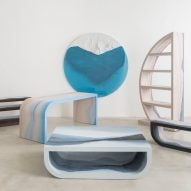 Fernando Mastrangelo's Escape furniture evokes landscapes through coloured gradients