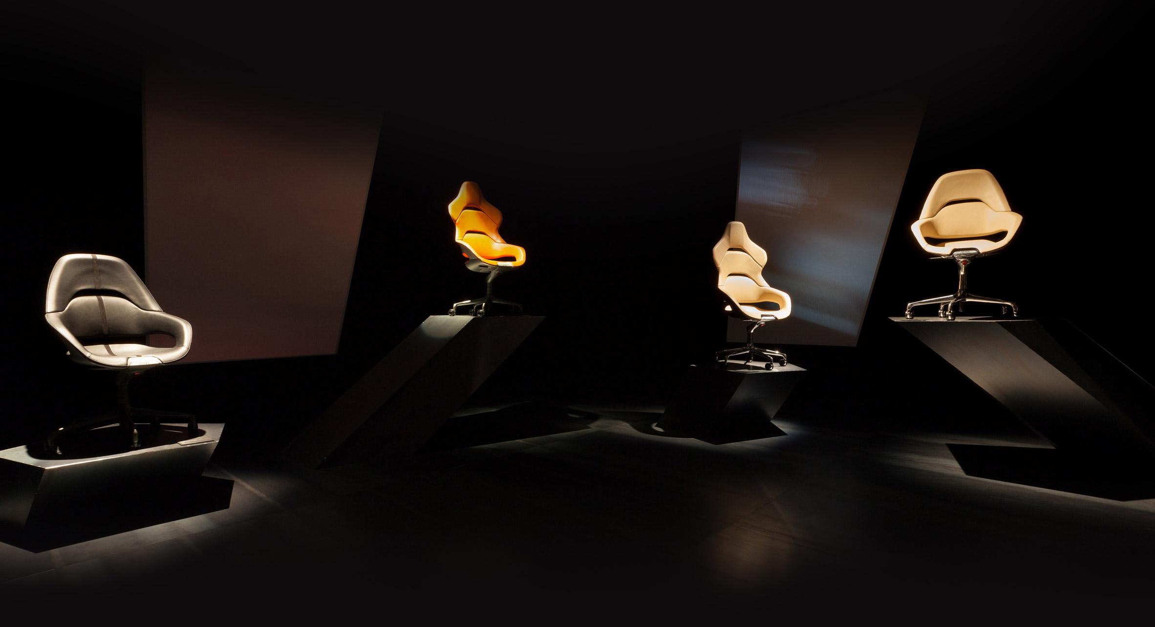 Ferrari design team creates Cockpit office chair for Poltrona Frau