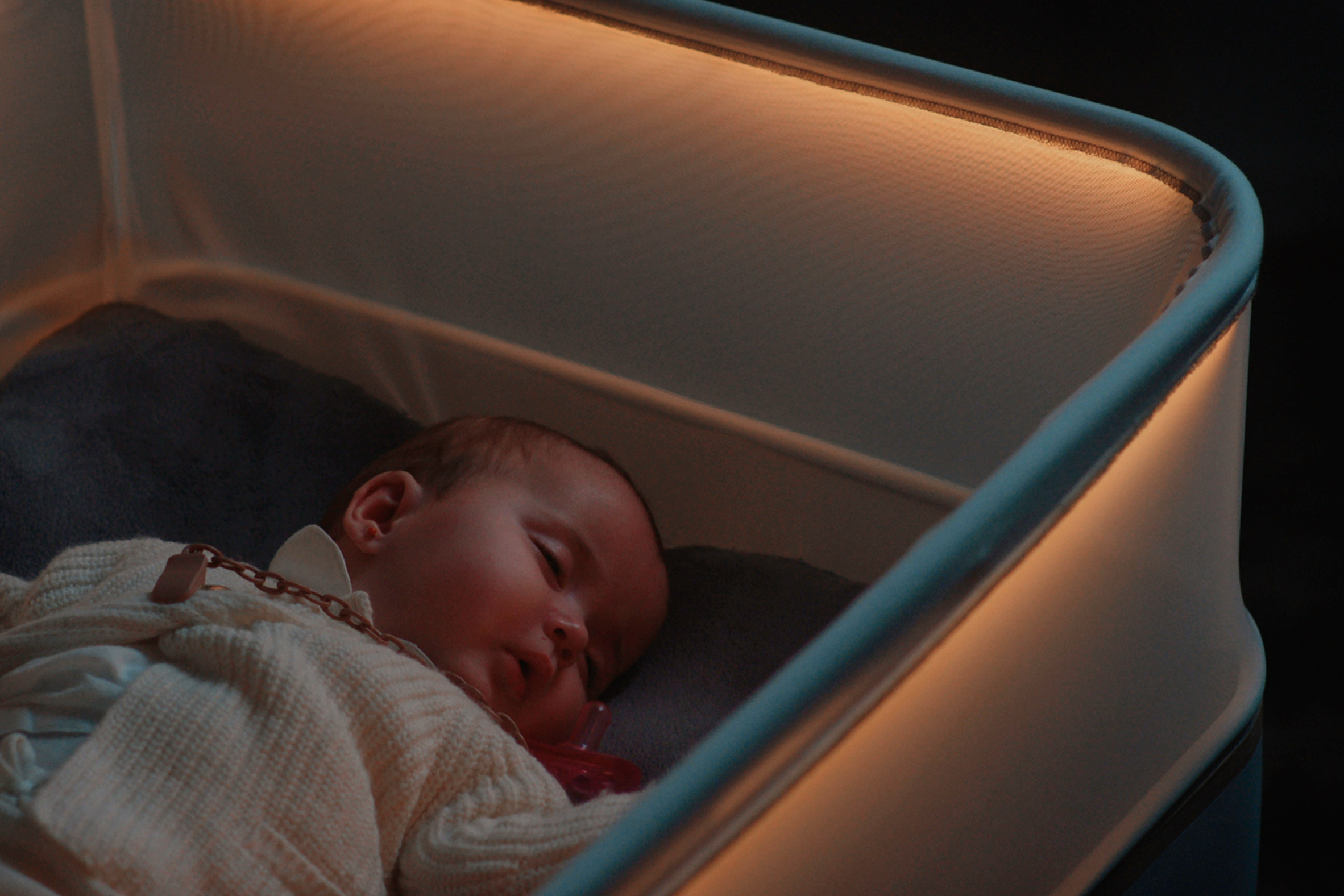 Ford's smart cot promises to recreate the feeling of being rocked to sleep in a car