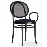 Front designs asymmetric version of Thonet's classic bistro chair