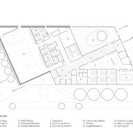 Plan of TREC by Ikon.5 Architects