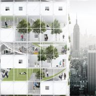 "Modular affordable housing envisioned for ""abandoned"" New York airspace"
