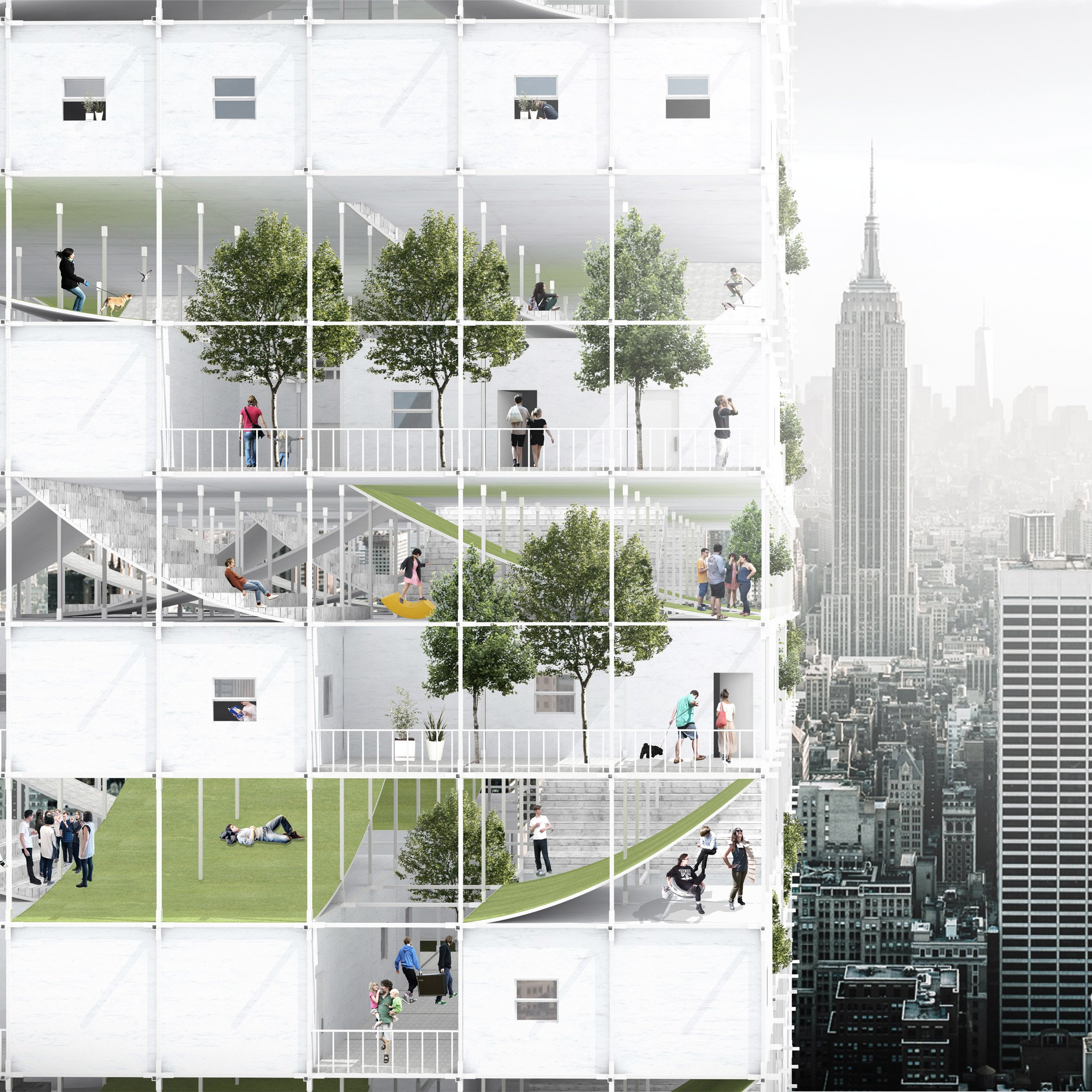 Modular Affordable Housing Envisioned For Abandoned New York Airspace This Conceptual