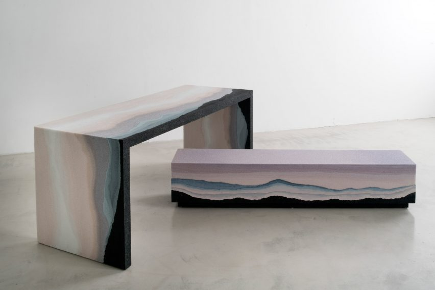 Escape Bench + Desk by Fernando Mastrangelo