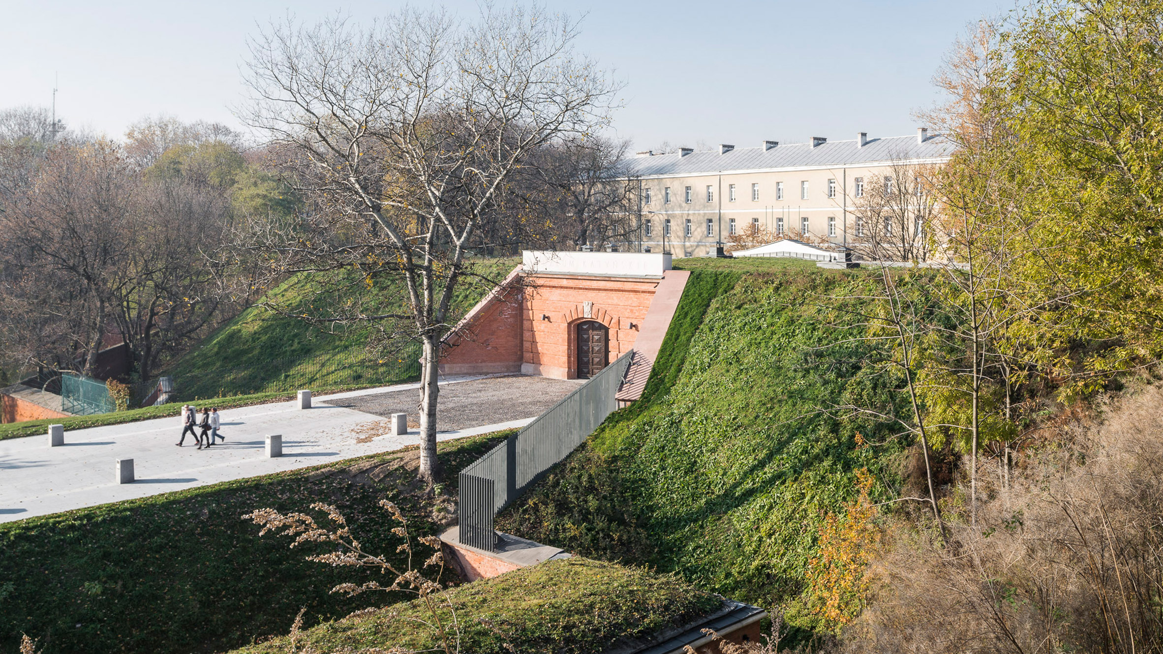 Thumbnail for BBGK Architekci uses stained concrete walls to create Katyn Museum inside Warsaw barbican