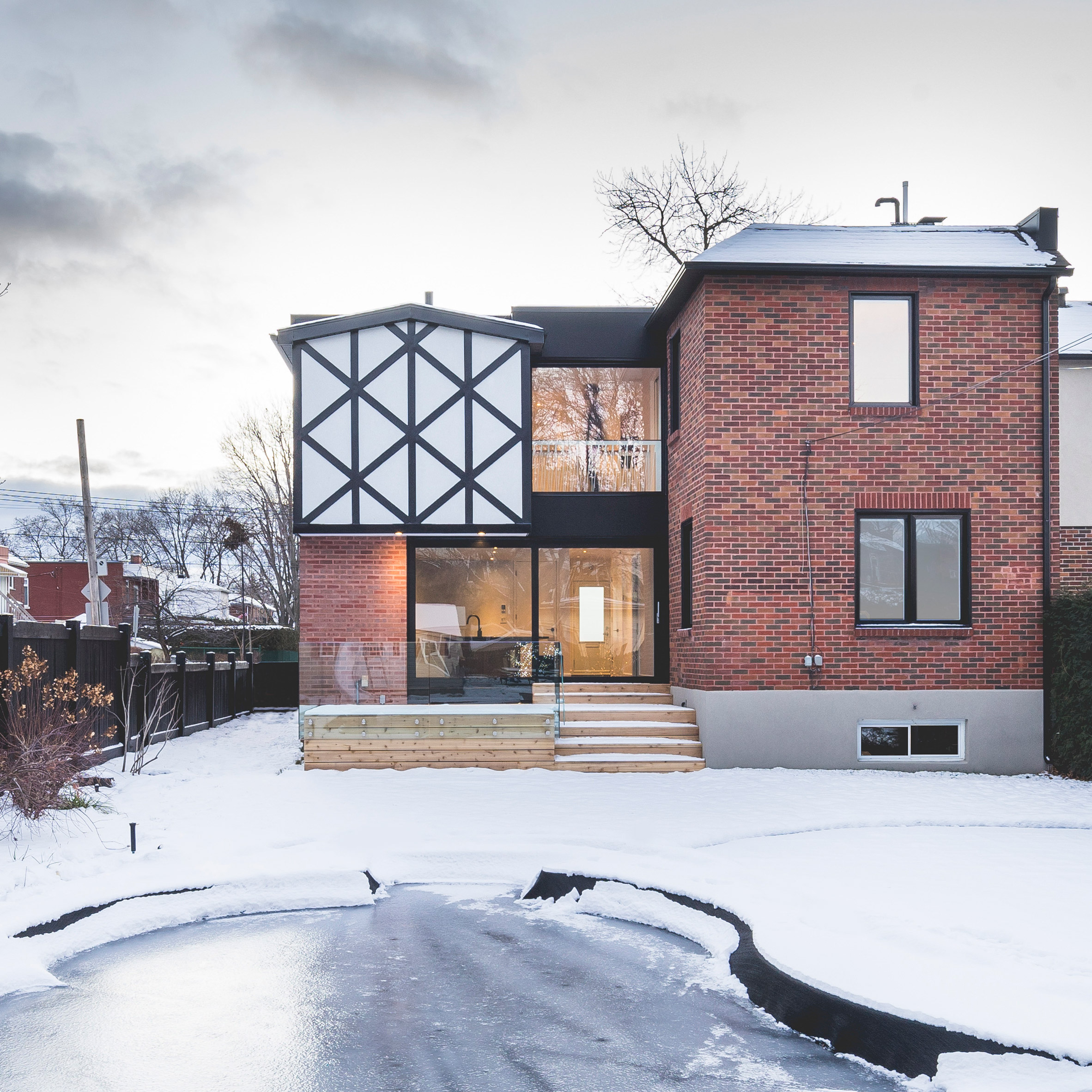 L McComber Architects Gives Contemporary Update To Tudor Style Home In  Montreal