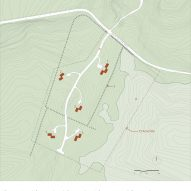 Site plan of Marlboro Music Cottages by HGA
