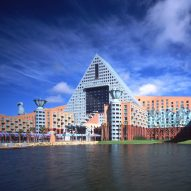 Postmodern architecture: Walt Disney World Dolphin and Swan Hotels by Michael Graves