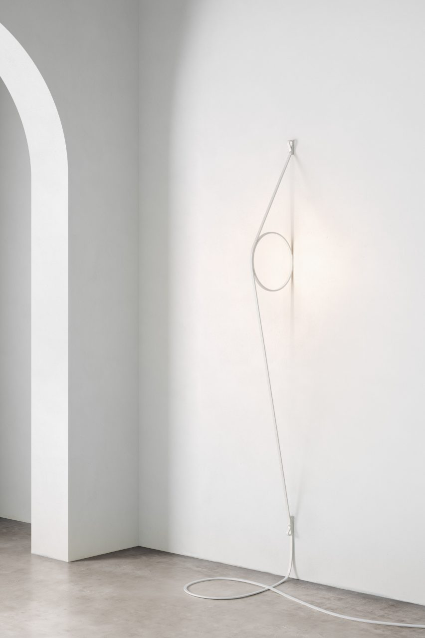 Milan: Blush Lamp and Wire Ring by Formafantasma for FLOS