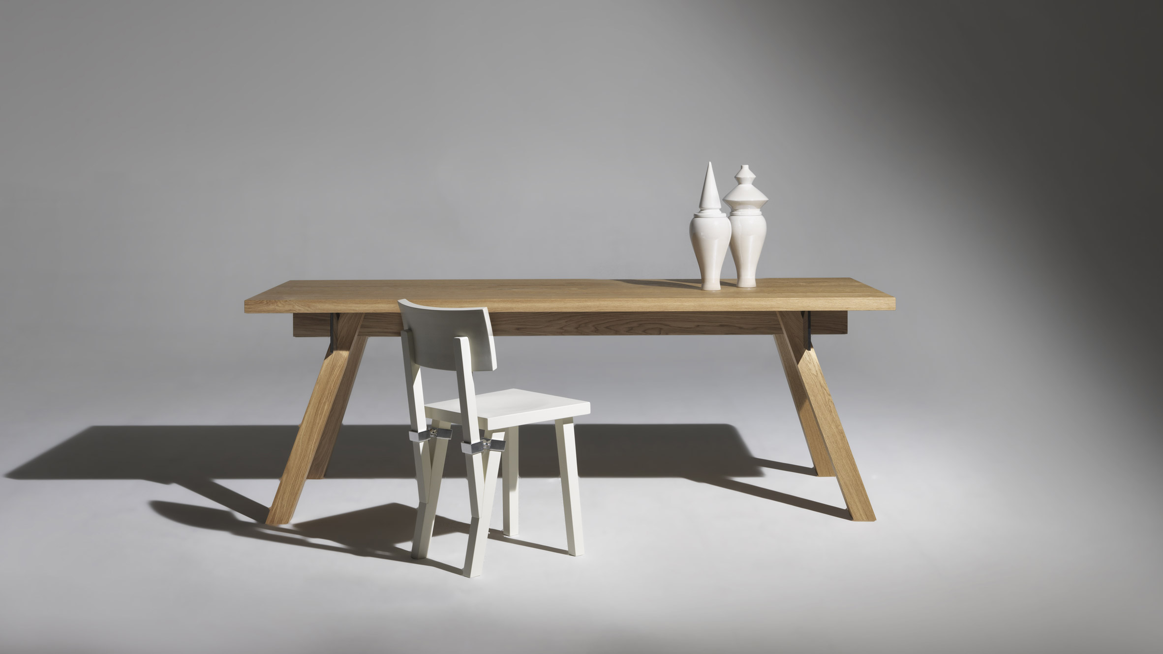 Torquemada table and chair by Philippe Starck at Driade