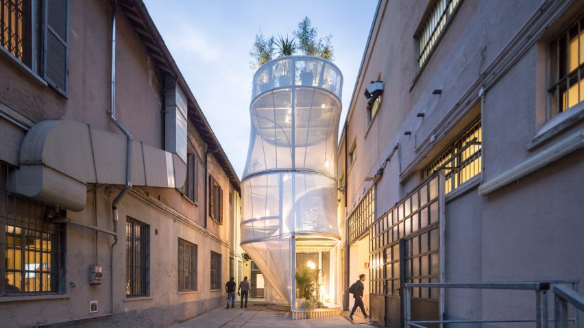 SO-IL imagined a future of sustainable city living with this air-filtering house