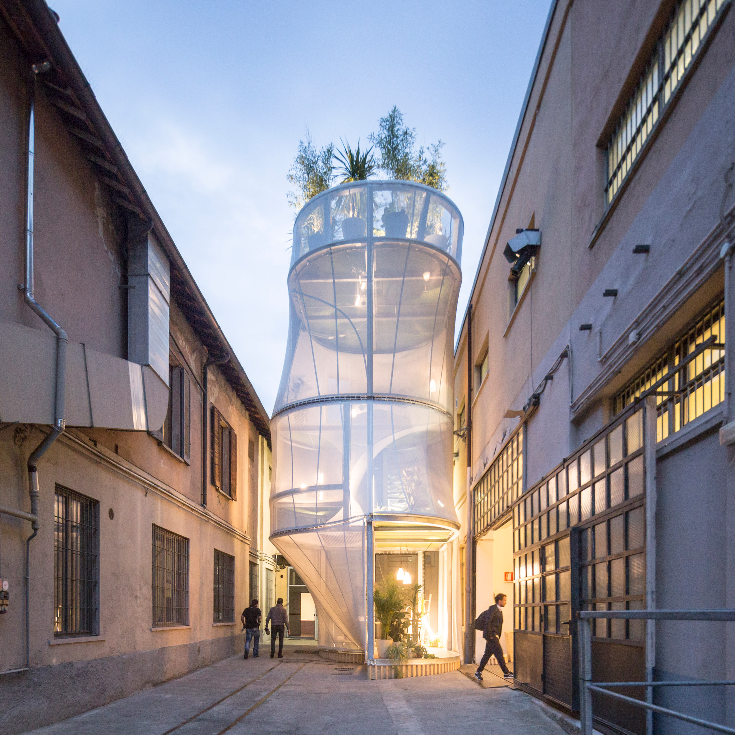 MINI Living Breathe installation at Milan design week