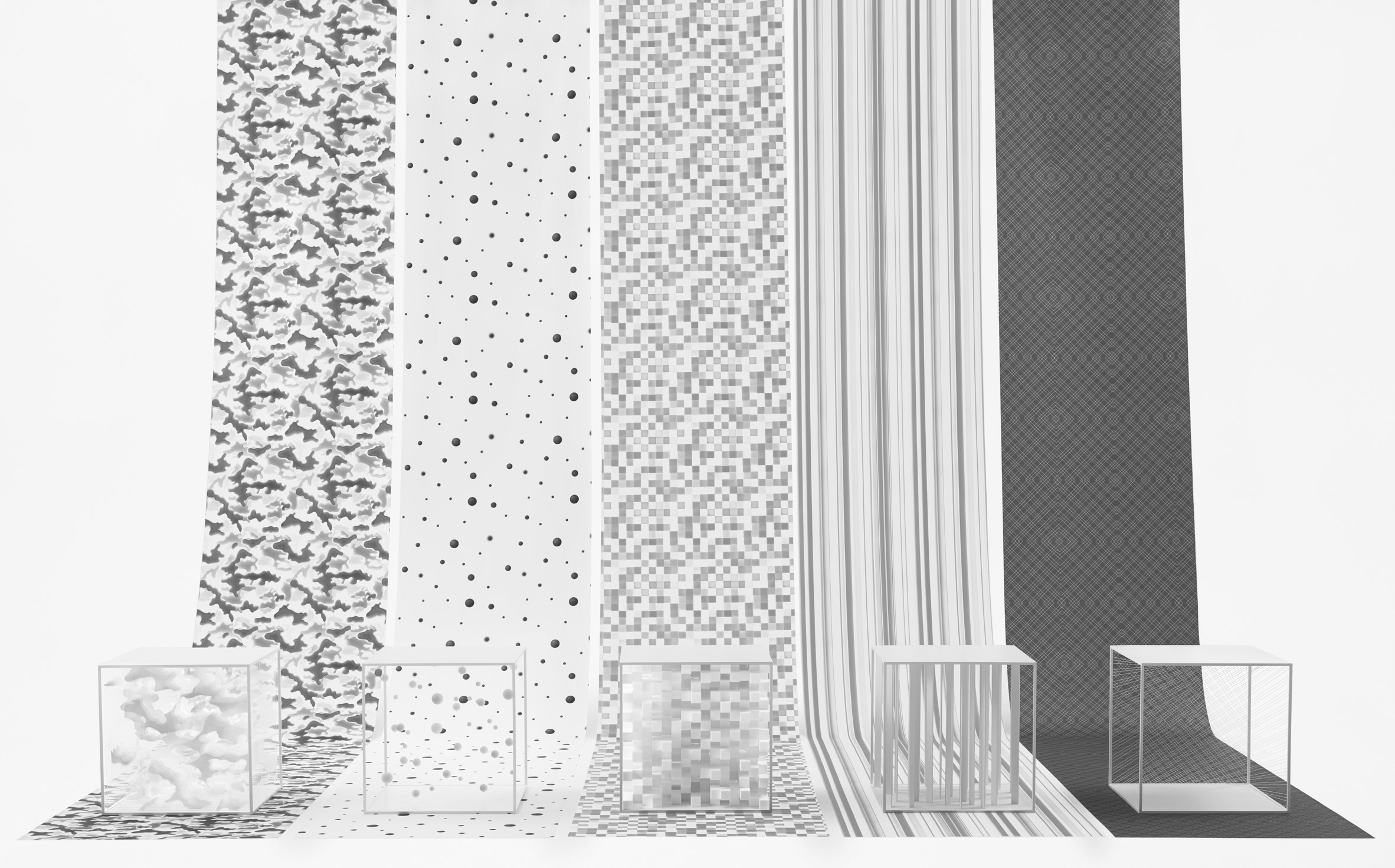 Nendo designs patterns for Jil Sander by photographing layered shapes