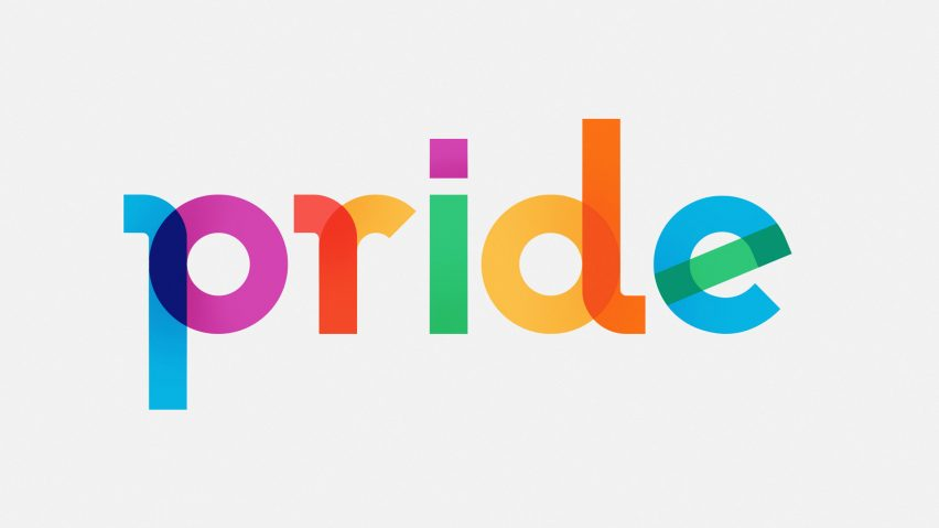 A rainbow font created to celebrate Pride