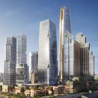 "SOM reveals designs for 16-hectare ""vertical village"" in central Bangkok"