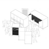 Diagram for office space for three companies by Only If