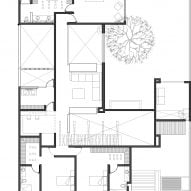 Plan of Casa Mezquite by BAG Arquitectura