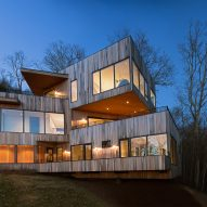 Retro+Fit Design stacks cyprus-clad volumes to form home overlooking North Carolina valley